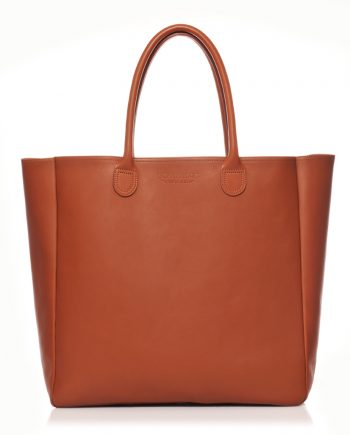 Grand sac cabas cuir Brique Cavale - Bonnie and Bag