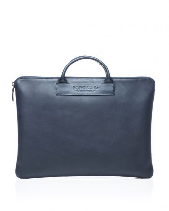 Sacoche ordinateur cuir bleu Bonnie and Bag © Thomas Behuret