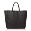 CAVNL grand sac cabas cuir noir scaled