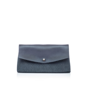 Porte-feuille nubuck bleu gris Escarcelle par Bonnie and Bag