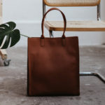 Sac vertical en cuir brique Compagnon par Bonnie and Bag